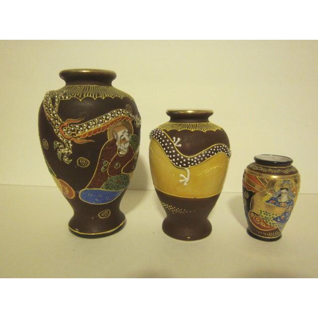 Vintage Japanese Satsuma Vases - Set of Three - Image 6 of 11