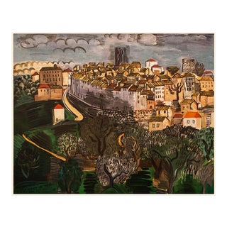 """1950s Raul Dufy """"Vence"""", First Edition Lithograph For Sale"""