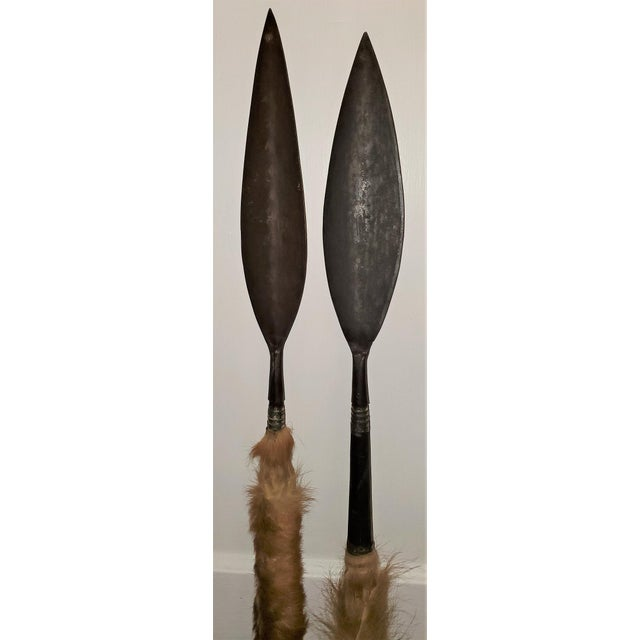 East African Throwing Short Spears-a Pair For Sale - Image 4 of 11