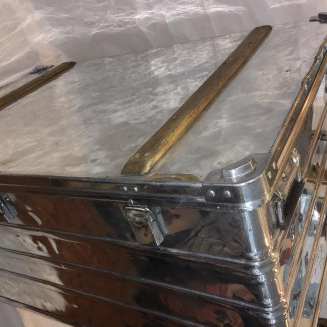 Vintage Polished Steel Zarges Industrial Trunk - Image 4 of 10