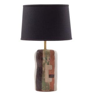 1950s Vintage Marianna Von Allesch Cubist Ceramic Table Lamp For Sale