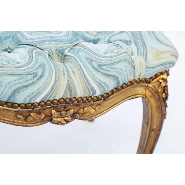 19th Century Louis XV Giltwood Bench For Sale - Image 4 of 7