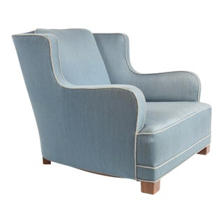 Early Danish Modern Lounge Chair Attributed to Fritz Hansen For Sale