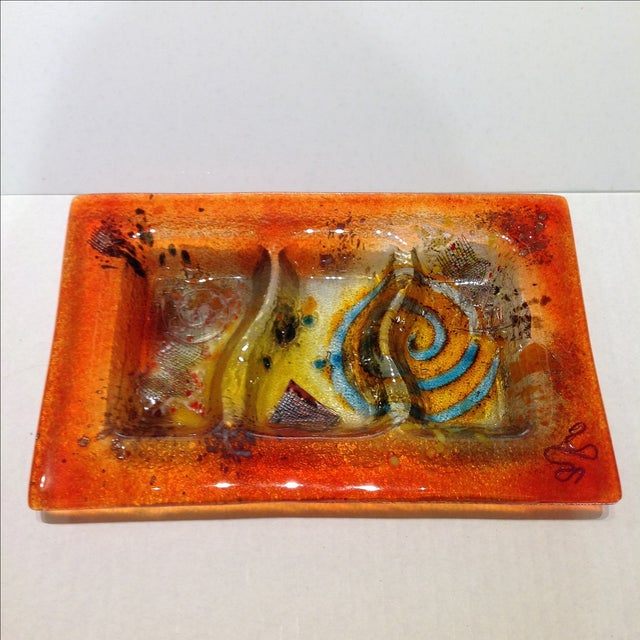 Fused Glass Art Dish - Image 2 of 10