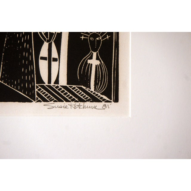 """Lacquer """"Sanctuary"""" Artist Proof Linocut Print by Susie Ketchum For Sale - Image 7 of 9"""