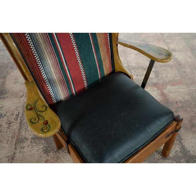 Monterey Style Ladder Back Accent Chair: Monterey Style Early California Painted Arm Chair