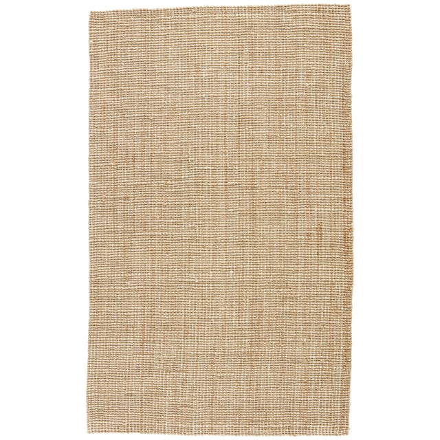 Jaipur Living Mayen Natural Solid Tan/ White Area Rug - 10′ × 14′ For Sale