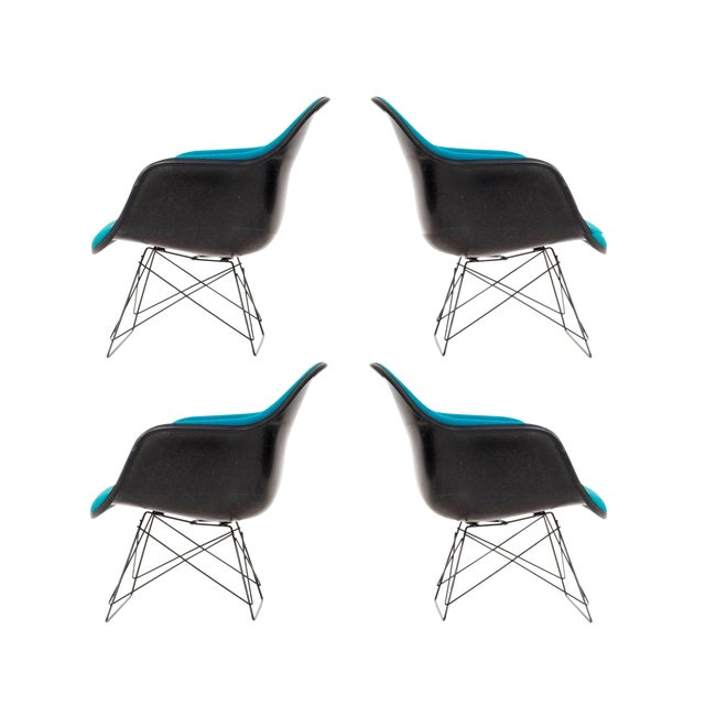 Set of Four Eames LAR Chairs For Sale