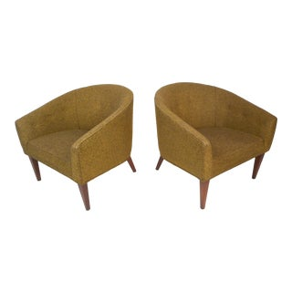 Pair of Mid-Century Modern Chairs by Dunbar For Sale
