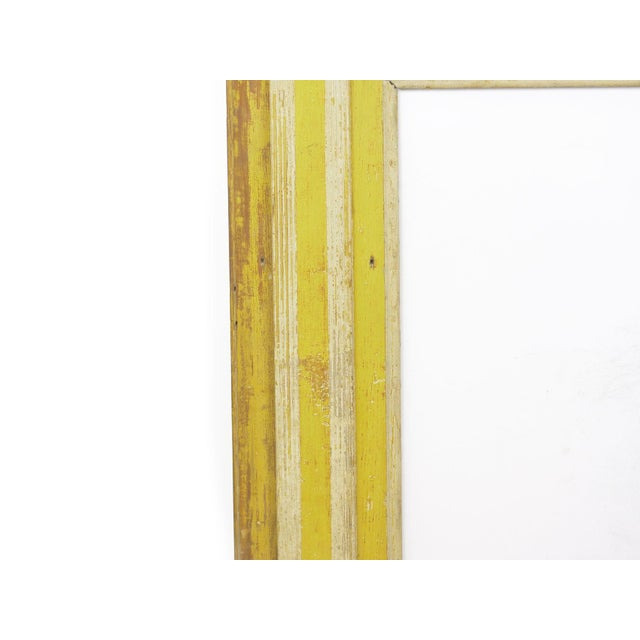 19th Century Neoclassical Federal Antique Fireplace Surround Mantel in Early Yellow & White Paint For Sale - Image 5 of 13