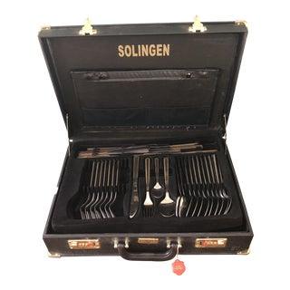 Solingen Mixed Media Flatware Set in Locking Case For Sale