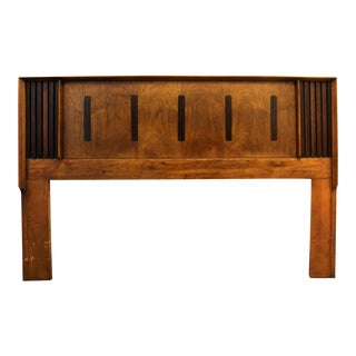 Mid Century Modern Lane Altavista Rosewood Pecan Queen Size Headboard For Sale