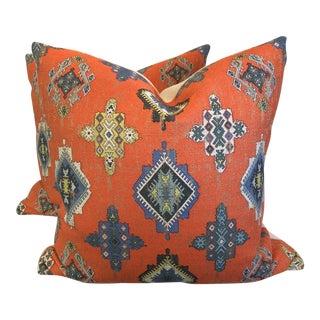 "Clark & Clark ""Konya"" 22"" Pillows - a Pair For Sale"