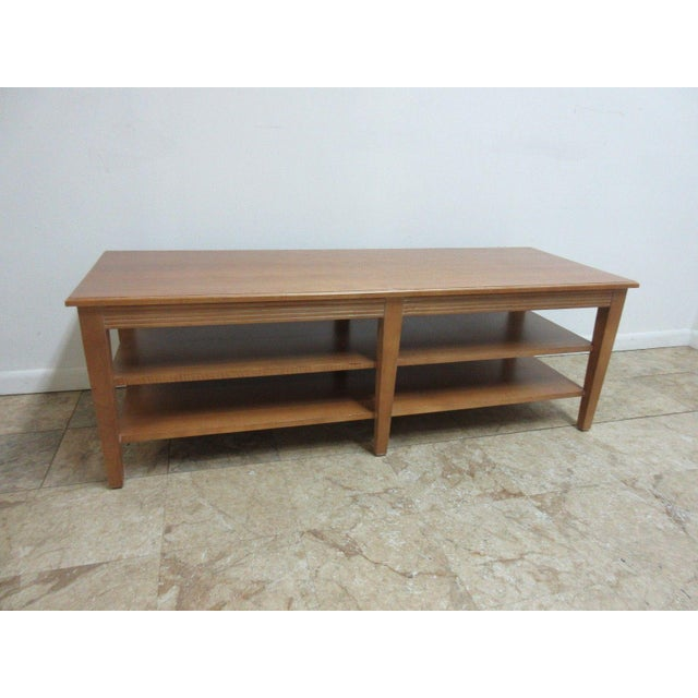 Ethan Allen Rectangular Coffee Tables: Ethan Allen Swedish Home Long Coffee Table
