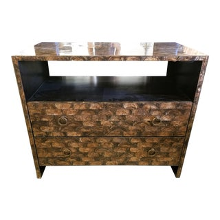Transitional Bernhardt Interiors Brown Capiz Contessa Bachelor Chest