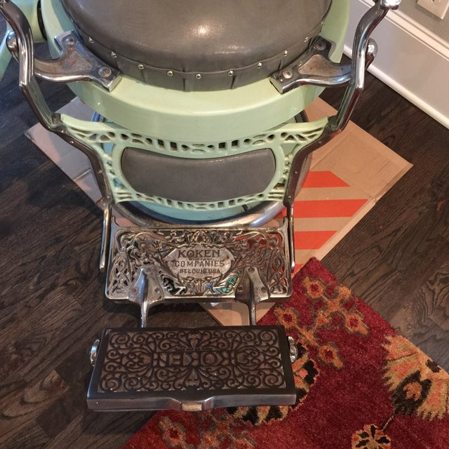 Antique Koken Barber Chair - Image 8 of 10