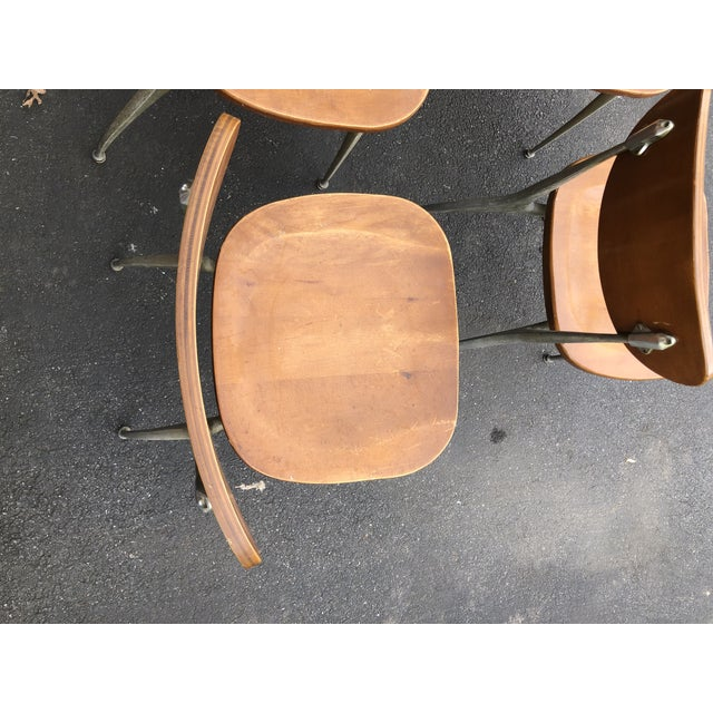 Mid-Century Modern 1950s Vintage Shelby Williams Gazelle Chairs - Set of 9 For Sale - Image 3 of 12