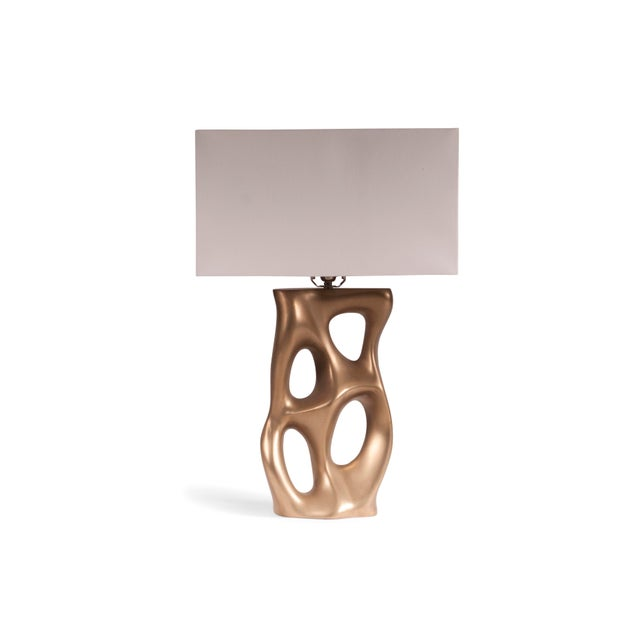 Gold Amorph Loop Table Lamp - Gold For Sale - Image 8 of 8