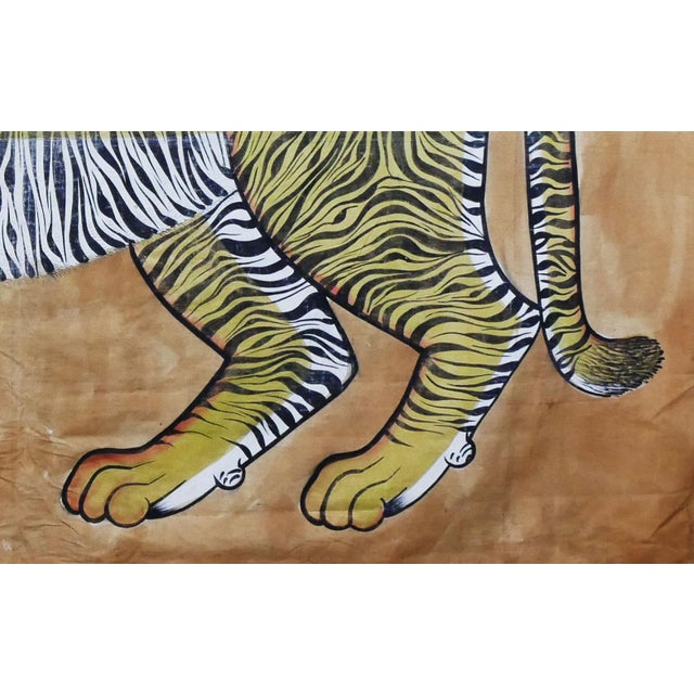 Vintage Large East Asian Tiger Tapestry Rug For Sale In Seattle - Image 6 of 8