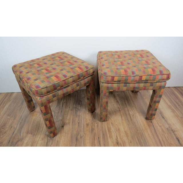 1980s Vintage Multicolor Parsons Stools - a Pair For Sale In Chicago - Image 6 of 13