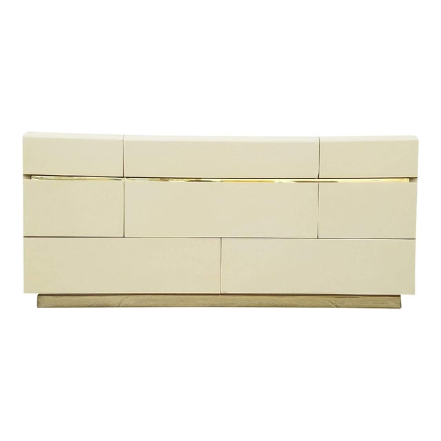 Vintage Lane Brass & Ivory Credenza - Image 1 of 5