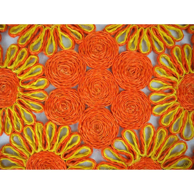 1970s Floral Raffia Placemats - Set of 4 - Image 8 of 9