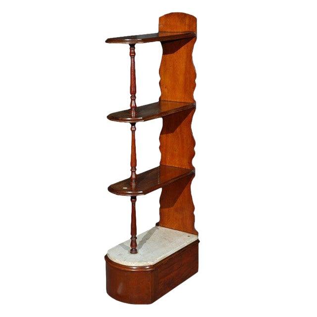 Late 19th Century English Chemist Mahogany Shelf For Sale