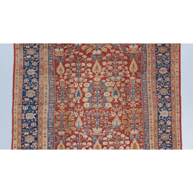Traditional Red Ground Mahal Carpet For Sale - Image 3 of 6