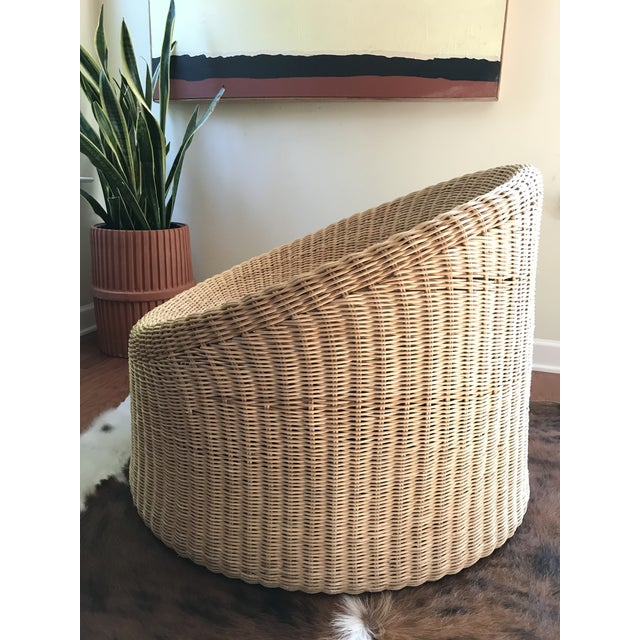 1960s Eero Aarnio Mid Century Modern Wicker Lounge Chair and Ottoman For Sale - Image 5 of 11
