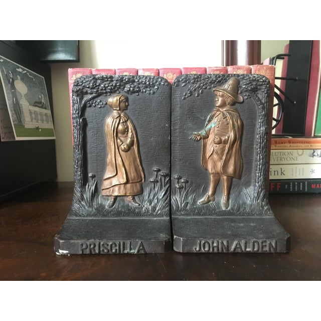 Bradley & Hubbard Cast Iron Pilgrim Bookends - a Pair For Sale - Image 9 of 9
