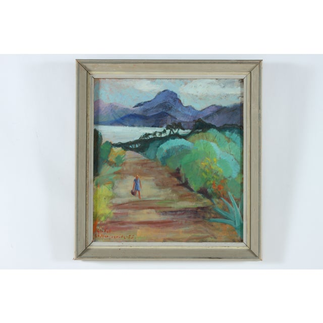 Beach Road Landscape Original Oil Painting - Image 2 of 3