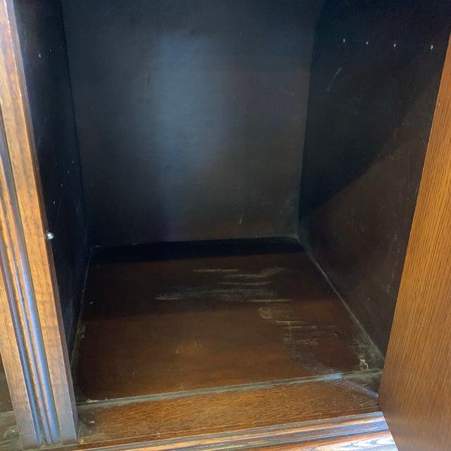 Wood Vintage Dark Oak Carved Wood Server Hunt Board For Sale - Image 7 of 13