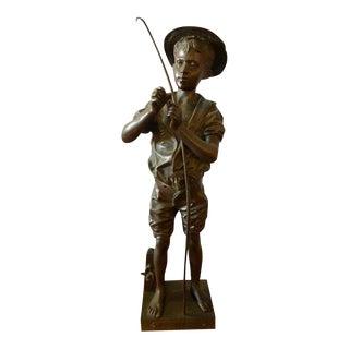 Adolphe Jean Lavergne Bronze Figure Of A 'Pecheur' Fisherman