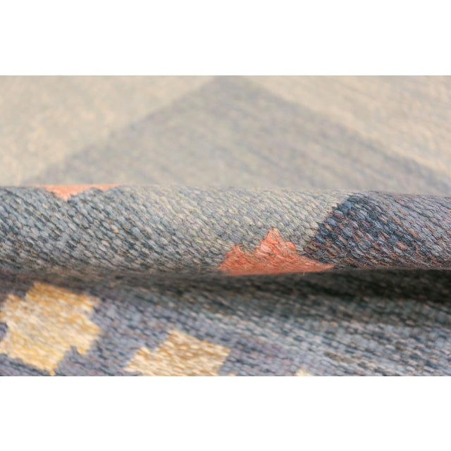 Textile Vintage Swedish Kilim Rug by Anna-Joanna Angstrom - 5′6″ × 7′9″ For Sale - Image 7 of 9