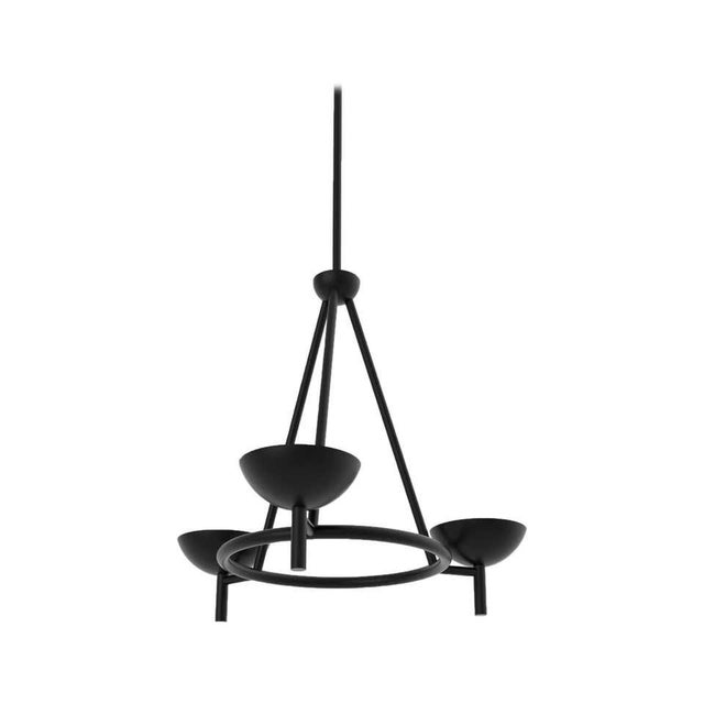 Contemporary 200 Chandelier in Blackened Brass by Orphan Work, 2020 For Sale In New York - Image 6 of 6