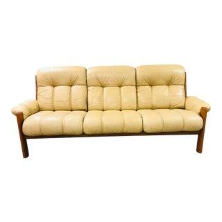 1970s Vintage j.e. Ekornes, Norway for Ekornes Stressless Montana Solid Teak Three Seat Sofa For Sale