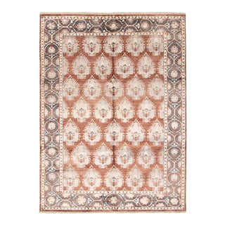 """Bohemian Hand-Knotted Rug, 8'8"""" X 11'8"""" For Sale"""