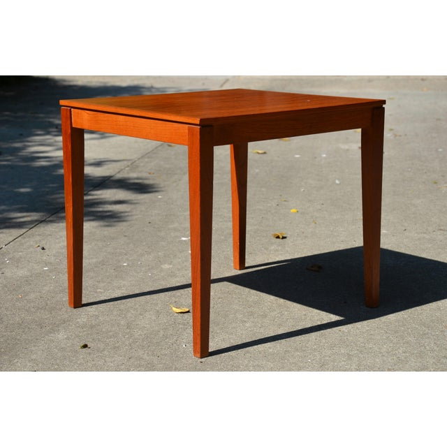 Teak 20th Century Danish Modern Bent Silberg Mobler Side Table For Sale - Image 7 of 8