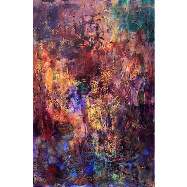 """""""Kaleidoscope"""" Abstract Mixed Media Painting For Sale"""