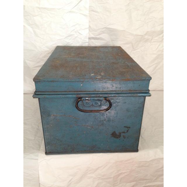 Vintage Metal Locking Box - Image 7 of 8
