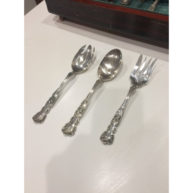 1950s Vintage Gorham Buttercup Sterling Silver Flatware - 40 Pieces For Sale In Dallas - Image 6 of 9