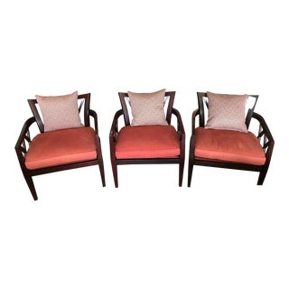 Baker Barbara Barry Double X Chairs AsIs - Set of 3 For Sale