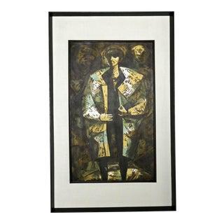 Josephs Coat Abstract Expressionist Silkscreen Serigraph by Dean J. Meeker