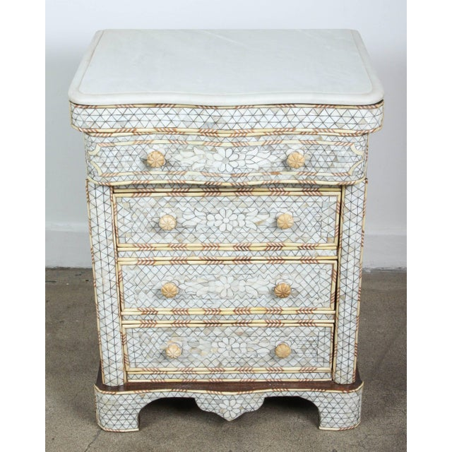 Pair of Mother-Of-Pearl Inlay Syrian Nightstands For Sale - Image 10 of 11