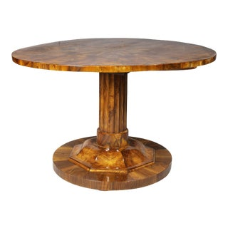 Biedermeier Figured Walnut Center Table For Sale