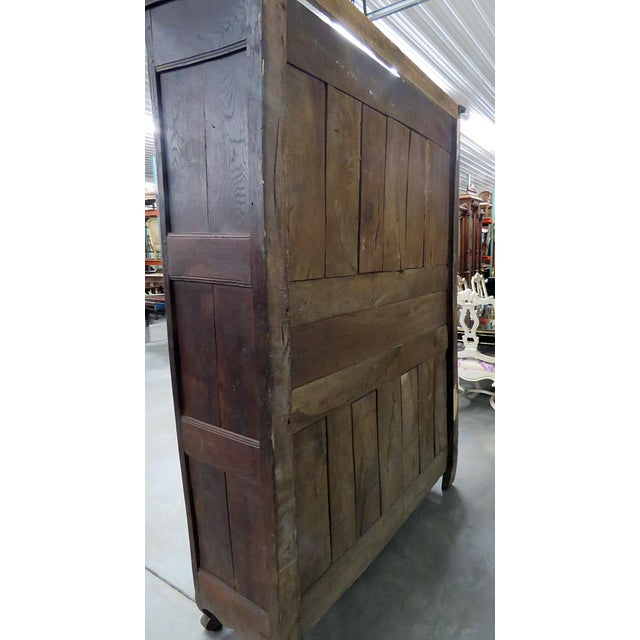 Brown 18th C. French Provincial Armoire For Sale - Image 8 of 11