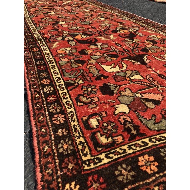 """1960's Vintage Persian Hamadan Thick & Heavy Runner 3'3""""x9'4"""" For Sale - Image 4 of 13"""