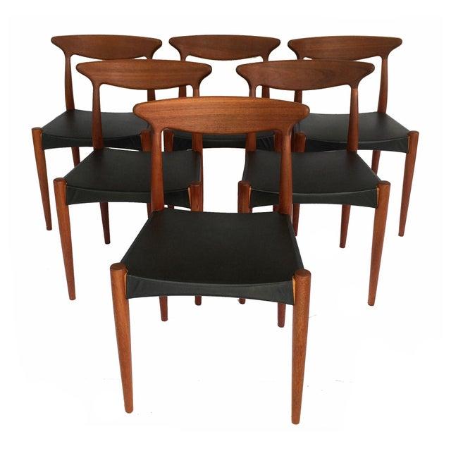 1960's Danish Mid-Century Modern Arne Hovmand-Olsen Model Mk 310 Teak Dining Chairs - Set of 6 For Sale - Image 12 of 13