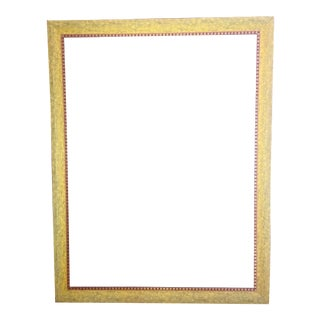 Antiqued Burnished Wood Picture Frame For Sale
