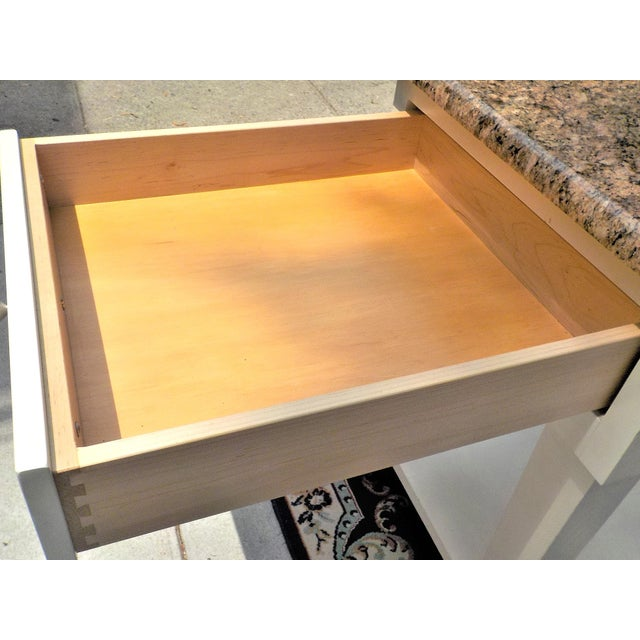 Chrome Food Preparation Work Table With Granite Top For Sale - Image 7 of 13